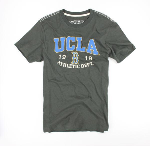 美國百分百【全新真品】夏 UCLA 美式 休閒 學院風 短袖 T恤 加州大學 t-shirt 橄欖球T