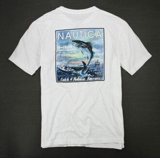 美國百分百【全新真品】NAUTICA T-shirt T恤 短T 棉T 白T 帆船牌 Tee S號 板橋門市 空運回台