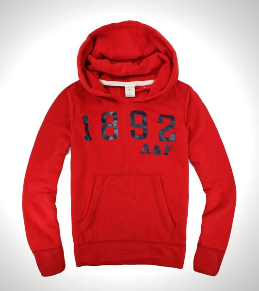 美國百分百【全新真品】Abercrombie & Fitch A&F 麋鹿 男 紅 連帽 外套 夾克 帽T 燙印 免運 M號