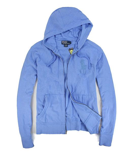 美國百分百【全新真品】Ralph Lauren RL 水藍 大馬 薄款 連帽外套 網眼 夾克 M號 polo 特價款