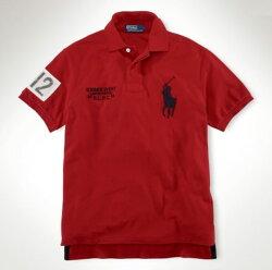 美國百分百【全新真品】Ralph Lauren RL POLO 大馬 男 紅色 短袖 上衣 馬球 網眼 超取免運 XS S號