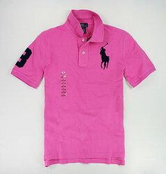 美國百分百【全新真品】Ralph Lauren RL 粉紅色 男生 大馬POLO衫 短袖 上衣 XS S 板橋門市