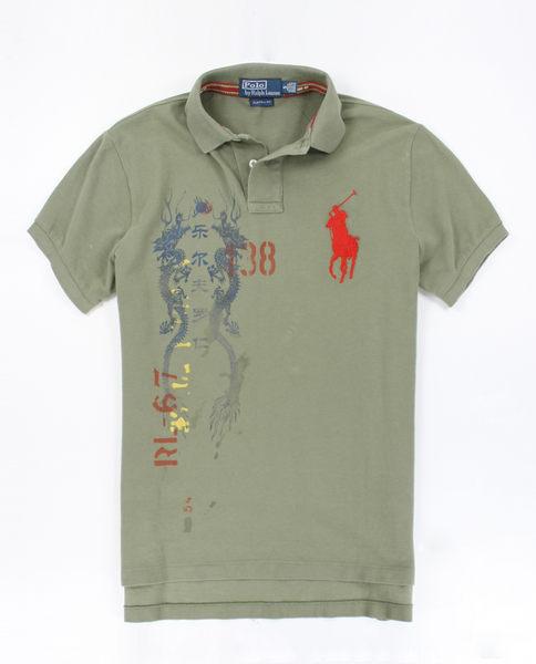 <br/><br/>  美國百分百【全新真品】Ralph Lauren RL 短袖 墨綠 圖案 文字 Polo衫 紅馬 XS號 超取 貨付<br/><br/>