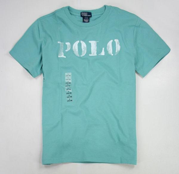 美國百分百【全新真品】Ralph Lauren RL 人氣特價 短袖 刷白 POLO T恤 T-shirt 男T 藍綠 S號 超取