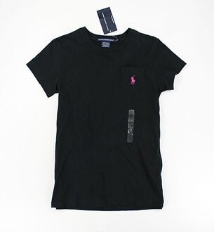 美國百分百【全新真品】Ralph Lauren Sport 女款 口袋 造型 短T 薄T T恤 淡紫 黑色 S M號 RL