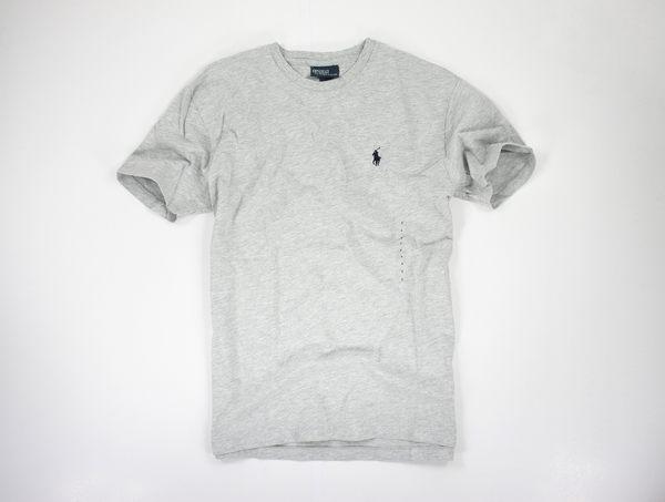 美國百分百【全新真品】Ralph Lauren 素面 T-shirt 短袖 上衣 純棉 T恤 RL 灰色 POLO 小馬 超取