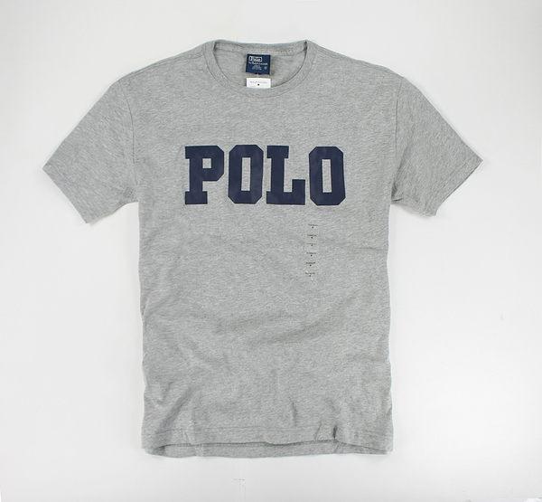 美國百分百【全新真品】Ralph Lauren RL 多色POLO 男短T T恤 T-shirt Tee 灰色 S M號 代購