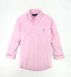 美國百分百【全新真品】Ralph Lauren RL POLO 男 長袖 襯衫 上衣 外衣 棉質 粉紅色 貨付 XS S 號