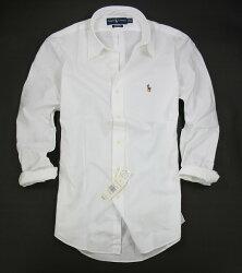 美國百分百【全新真品】Ralph Lauren RL 男 工作 上班 長袖 素面 襯衫 白色 小馬 Polo 可超取
