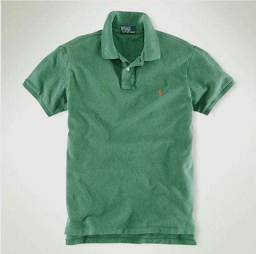 美國百分百【全新真品】Ralph Lauren RL 冬季 復古款 男 短袖 polo衫 深綠 M號 小紅馬 門市