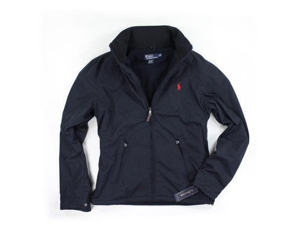 美國百分百【全新真品】Ralph Lauren 男款 立領夾克 連帽外套 RL polo 深藍 經典款 超保暖 超取