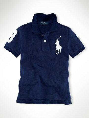 美國百分百【全新真品】Ralph Lauren RL 童裝 小孩 深藍 大馬 短袖 Polo衫 幼童 親子裝 5歲
