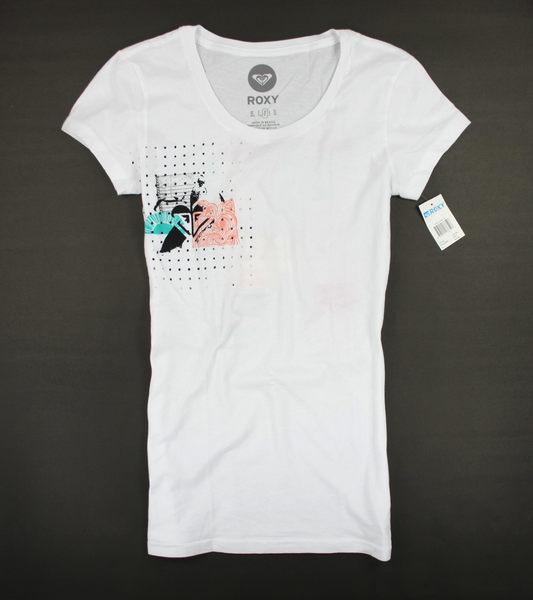 美國百分百【全新真品】ROXY 女生 長版 上衣 T恤 白 衝浪風 海灘風 休閒風 美式風 美國寄件