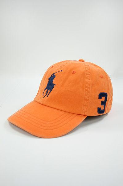 美國百分百【驚喜優惠】Ralph Lauren RL POLO 遮陽帽 大馬 數字 男 帽子 棒球帽 橘色 限量