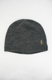 美國百分百【全新真品】Ralph Lauren RL 薄款 wool 羊毛帽 毛帽 細針織 小彩馬 男帽 polo 灰