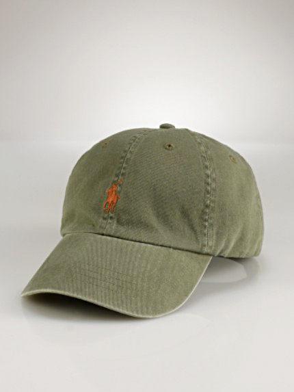 美國百分百【全新真品】Ralph Lauren RL 皮革 仿舊 刷白 刺繡 小馬 男 帽 遮陽 棒球帽 橄欖綠