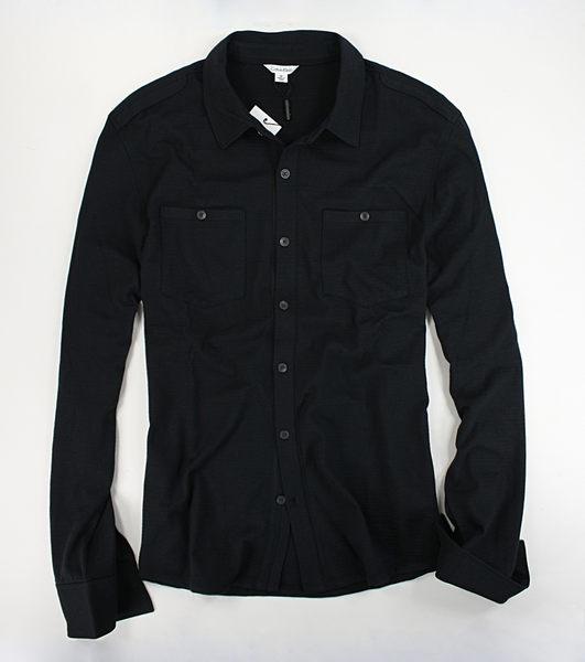 美國百分百【全新真品】Calvin Klein 男款 襯衫 外搭 外衣 薄外套 開扣 罩衫 棉外套 M號 CK