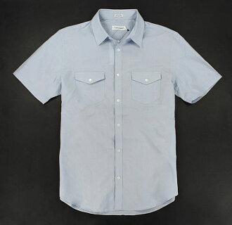 美國百分百【全新真品】Calvin Klein 男生 夏季 短袖 襯衫 淡水藍 細條紋款 S M號 超取 CK