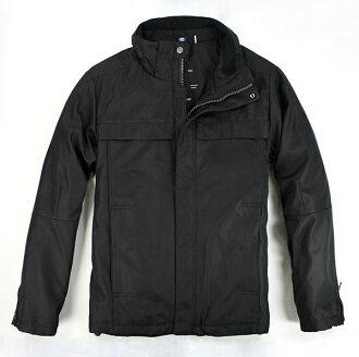 美國百分百【全新真品】Calvin Klein CK 男 黑色 帥氣 夾克 防寒 外套 素面 風衣 大衣 M號 超取