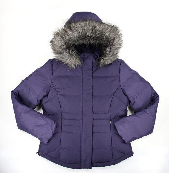 美國百分百【全新真品】Calvin Klein CK 女生 紫色 羽絨外套 保暖夾克 防寒 外衣 S號 超取免運