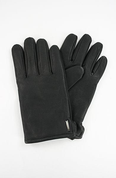 美國百分百【全新真品】Calvin Klein CK 喀什米爾 羊毛 男 小牛皮 手套 配件 黑色 免運 M號