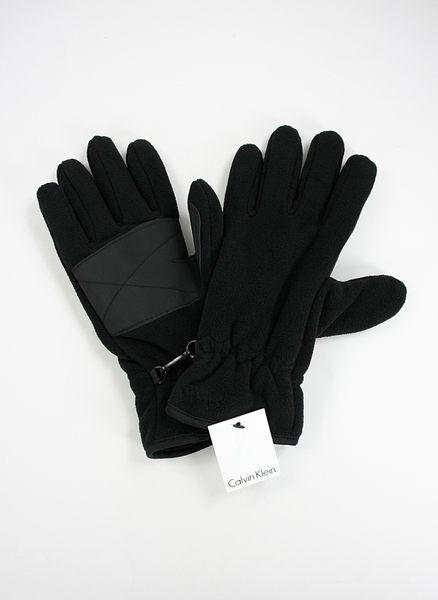 美國百分百【全新真品】Calvin Klein CK 黑色 厚 毛絨 手套 超保暖 止滑 S M L XL號 板橋門市