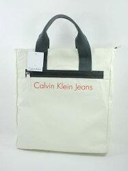 美國百分百【全新真品】Calvin Klein 大方包 托特包 手提包 手提袋 公事包 防水 白色 男款 CK