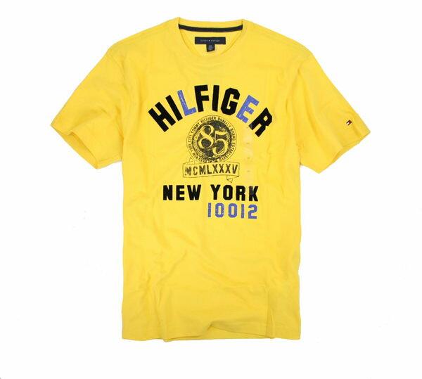 美國百分百【全新真品】Tommy Hilfiger 絨布文字 質感T 紐約 短袖 T恤 經典 1985年TH 美國