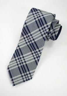 美國百分百【全新真品】Tommy Hilfiger 高級絲織 名牌 紳士 領帶 寬版 交叉斜紋 藍灰色 TH