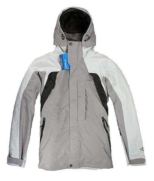 美國百分百【哥倫比亞】Columbia 防寒大衣 外套 連帽 防風 高機能 登山 夾克 卡其白 男 S號