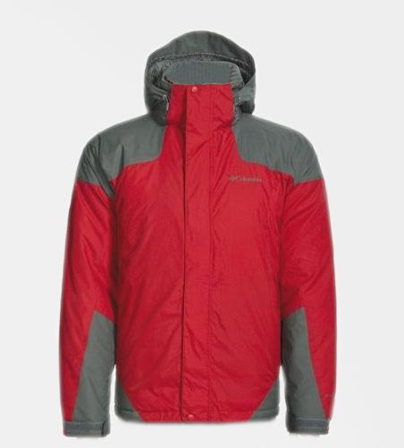 美國百分百【全新真品】Columbia哥倫比亞 男 防潑水 防污 外套 夾克 輕巧 紅灰 Omni 免運M L號