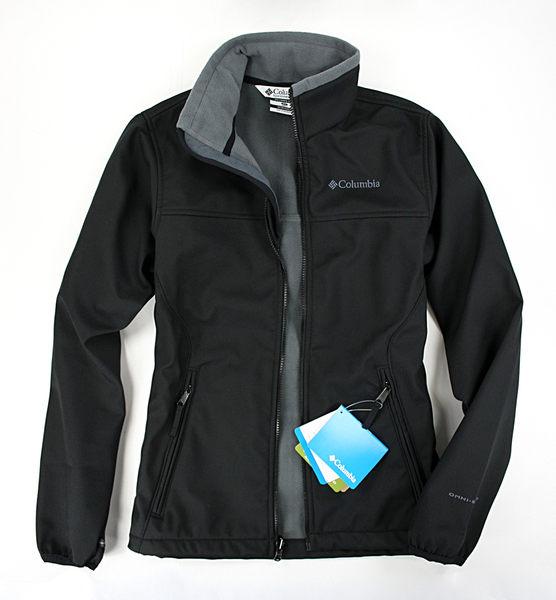 美國百分百【全新真品】Columbia 哥倫比亞 登山 防寒 防水 保暖 軟殼 外套 黑 夾克 S號 B689