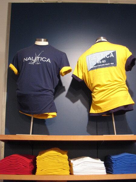 美國百分百【全新真品】Nautica T-shirt 男短T恤 圓領T 個姓T 亮黃 美國寄件
