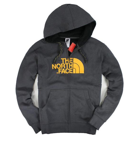 美國百分百【全新真品】The North Face 男款 連帽 帽T 素面 亮橘logo 外套 百搭 休閒 M號 免運