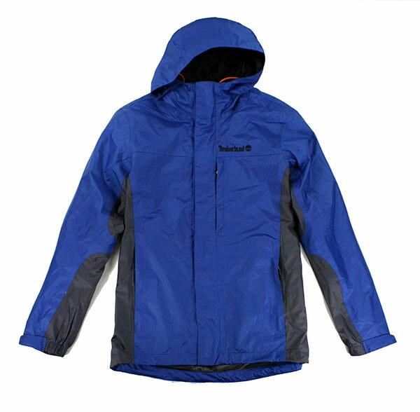 美國百分百【全新真品】Timberland Oeko-tex 男款 連帽 風衣外套 擋風 防水 夾克 騎士 寶藍 S