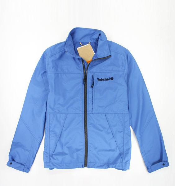美國百分百【全新真品】Timberland 中空纖維 男 外套 立領 夾克 藍色 方便收納 防風 S號 現貨