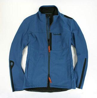 美國百分百【全新真品】Timberland 中空纖維 防水 防風 修身 外套 運動休閒 夾克 藍色 S