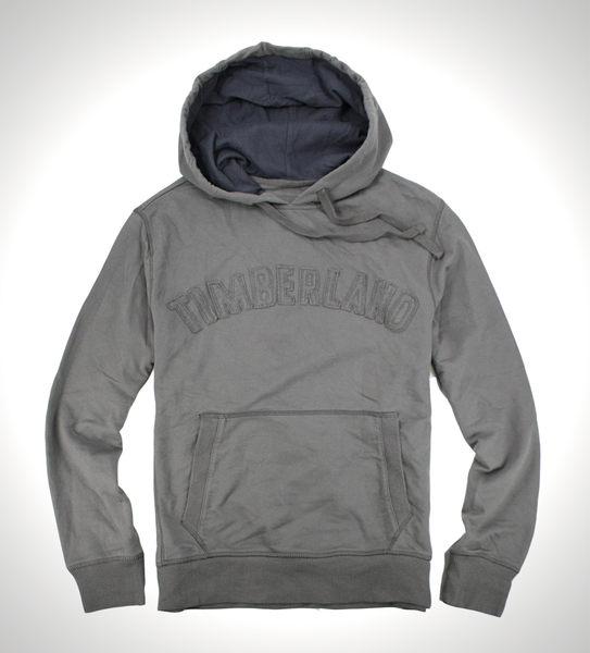 美國百分百【全新真品】Timberland 男 連帽外套 夾克 帽T 上衣 灰 縫布 帥氣 超取 免運 S M L號