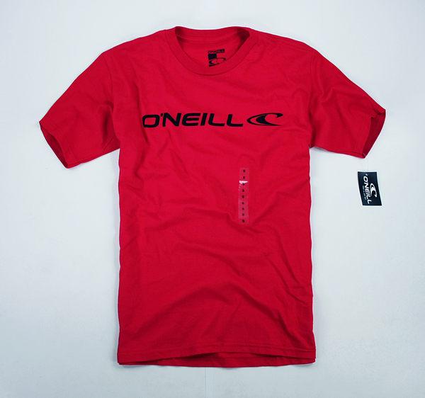 美國百分百【全新真品】Oneill 衝浪 潮流 男T logoT 短袖 T恤 T-shirt Tees 深紅色 S L號 可貨付