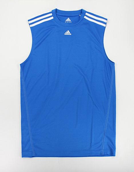 美國百分百【全新真品】Adidas 愛迪達 打球 籃球 運動 球衣 球T 運動背心 排汗涼爽 亮藍 S M