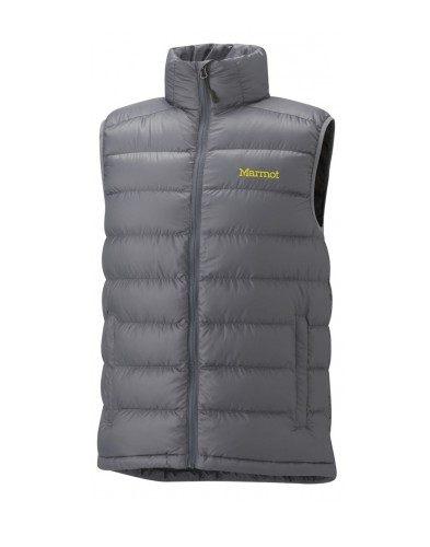 美國百分百【全新真品】Marmot 登山品牌 羽絨 保暖 背心 運動背心 輕巧 男 女 灰色 M號 門市
