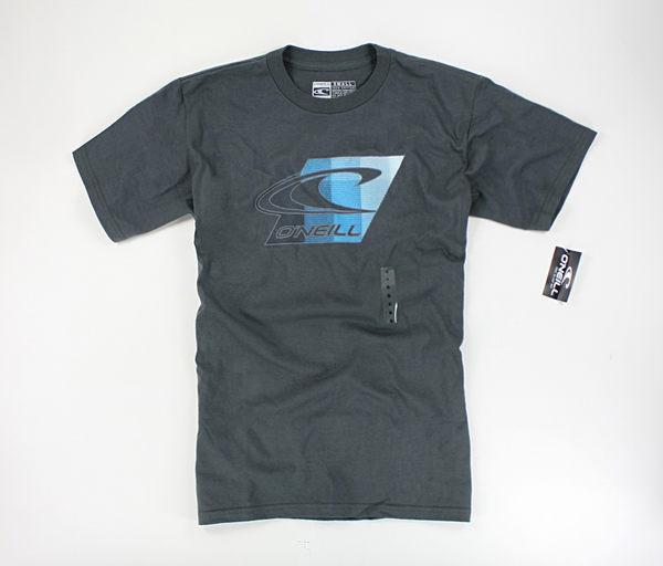 美國百分百【全新真品】Oneill 藍漸層 設計logo 短袖 T恤 T-shirt Tee 衝浪潮牌 棉T 深灰 S M號