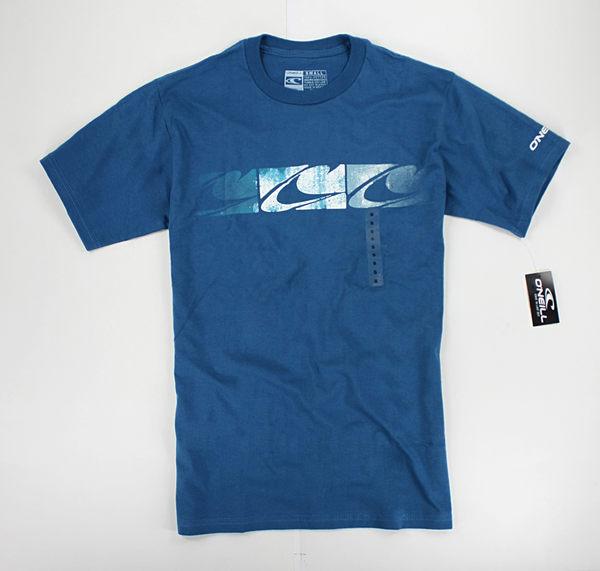 美國百分百【全新真品】Oneill 刷色logo 圖案 短袖 T恤 T-shirt Tees 黑色 藍色 S M號 板橋門市
