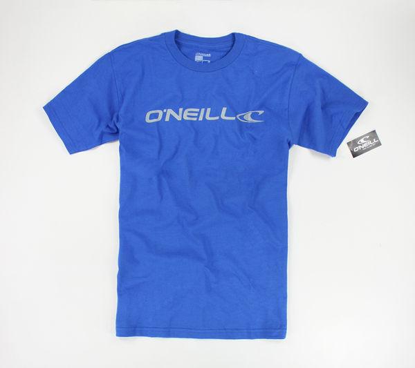 美國百分百【全新真品】Oneill 男 短袖 T恤 T-shirt Tee logoT 衝浪T 圓領T 寶藍 深藍 S號 現貨