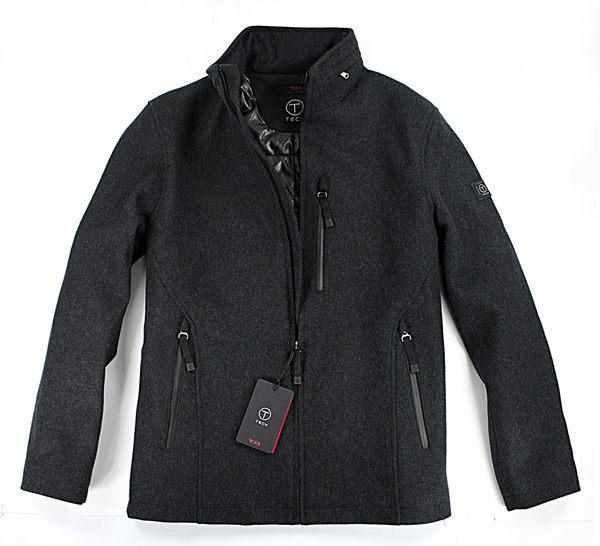 美國百分百【全新真品】Tumi Tech wool 羊毛 大衣 外套 夾克 防水 擋風 保暖 透氣 L號 黑 免運