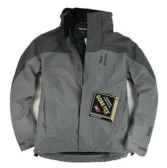 美國百分百【全新真品】Marmot GORE-TEX 登山 外出 騎士 防水 防風 男 外套 夾克 風衣 灰 M號
