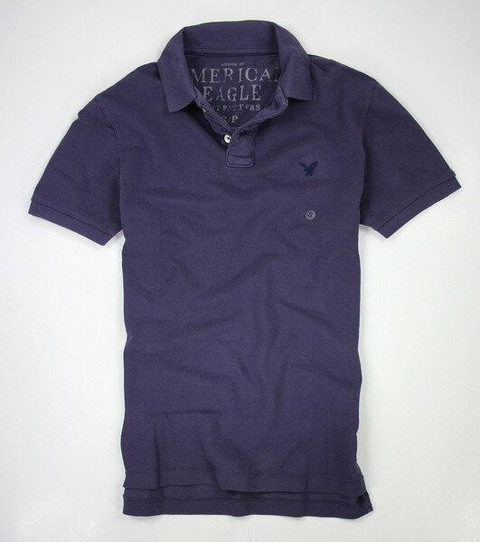 美國百分百【全新真品】American Eagle AE 老鷹 網眼 純棉 短袖 Polo衫 暗紫色 XS S號 超取 e