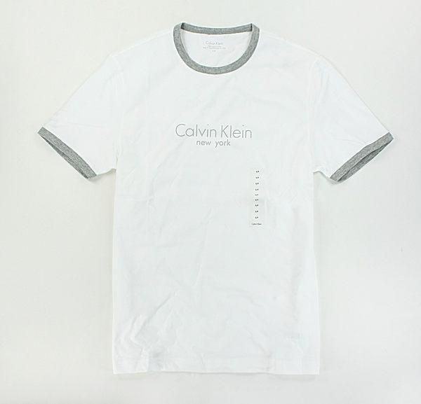 美國百分百【全新真品】Calvin Klein 型男 CK New York logo 基本百搭 短袖 T恤 T-shirt 白色 XS S號