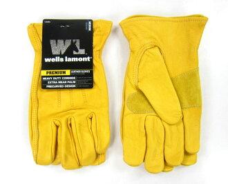 美國百分百【全新真品】美國專利 黃色 100% 純牛皮手套 騎機車 戶外休閒 皮 手套 免運