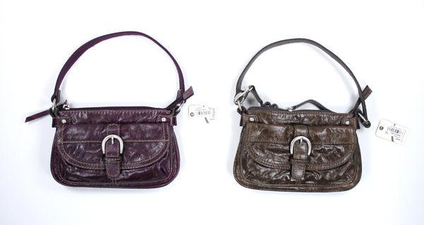美國百分百【全新真品】FOSSIL 女款 手提包 肩背包 斜背包 小牛皮 小包 紫色 咖啡 超取免運